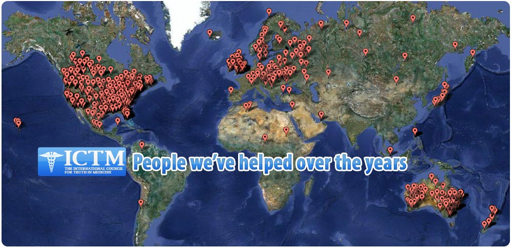 world map of everyone we have helped
